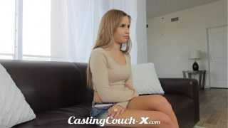 Casting Couch-X Exotic Cali girl nervous to do porn